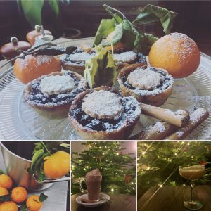 christmas montage mince pie